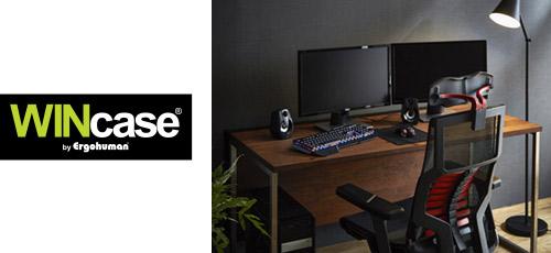 ゲ―ミングチェア「WINCASE(ウィンケース)」ロゴ+イメージ画像
